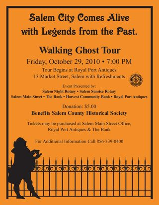 Ghost Tour Flyer 2010 for Website