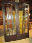 Early Pair of French Doors with Beveled Glass