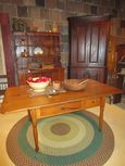 19th Century Sheraton Yellow Pine Work Table with 2 Drawers