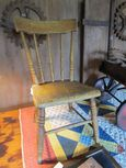 Beautiful Early Grain Painted Youth Chair