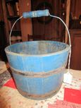 Old Blue Painted Bucket