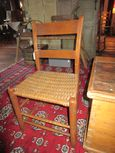 Early Thumbback 2 Slat Chair with Woven Seat