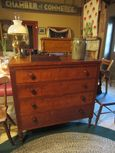 19th Century 4 Drawer Cherry Dresser