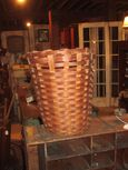20th Century Hand Woven Splint Basket