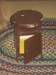 VIntage Metal Stool with Storage