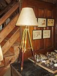 Repurposed Surveyor's Stand Lamp