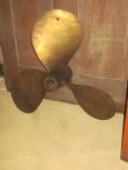 "Early Brass Boat Propeller 23"" Diameter"