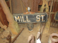 Early Street Sign MILL ST.
