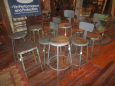 Group shot of all of the stools