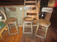 Industrial Stools with Back
