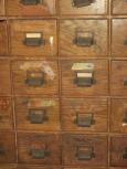36 Drawer Oak Hardware Cabinet Drawer Fronts