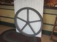 "34"" Diameter Iron Pulley Wheel"