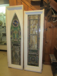 Early 20th Century Stained Glass Pair