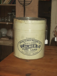 50# Ulmer Lard Tin with no lid