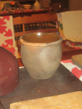Early Redware Crock