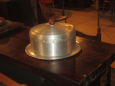 Vintage West Bend Spun Aluminum Cake Carrier