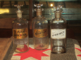 Early Apothecary Bottles with Glass Labels