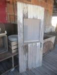 Primitive Barn Door with Window