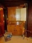 19th Century 2 Door over 3 Drawers over 2 Doors Stepback Cupboard