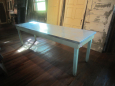 Old Table Base with Repurposed Galvinized Top