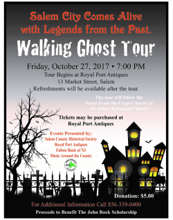2017 Ghost Tour Flyer