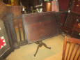 Old Drafting Table with Iron Base, Adjustable