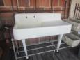 Vintage Porcelain Sink with Drainboard
