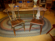 Pair of Painted Plank Bottom Chairs
