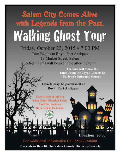 2015 Walking Ghost Tour Flyer
