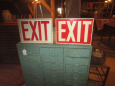 Tin Exit Signs
