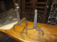 Pair of Early Iron Andirons