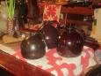 3 Early Brown Glazed Jugs