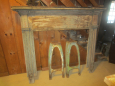 Early Painted Mantel Reeded Sides