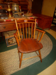 19th Century Butterfly Back, Bamboo Turned Arm Chair