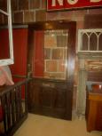 Early Oak Beveled Glass Top Door