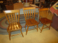 Early Plank Bottom Chairs