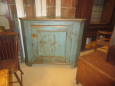 19th Century Painted Corner Cupboard Base
