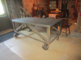 Zinc Top Industrial Cart on Castors