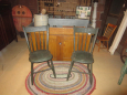 Early Painted Thumbback Windsor Chairs