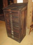 21 Drawer Hamilton Mfg. Co. Type/Letterpress Cabinet