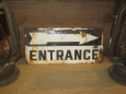 Vintage Metal Entrance Sign