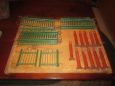 23 Piece Vintage Christmas Feather Tree Fence Display