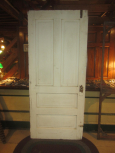 Early White Painted Paneled Door