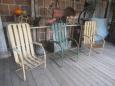 Vintage Metal Chairs, Unusual Style