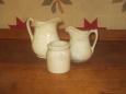 Old Mini Pitchers/Stoneware