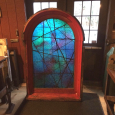 Arched Window with Later Plexiglass Replacement