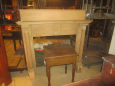 19th Century Mantel with Decorative Columns and Decor