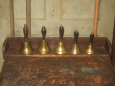 Old Brass & Wood Hand Bells