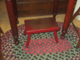 Old Red Painted Stool