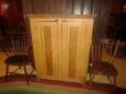 2 Door Grain Painted Cupboard Top with Interior Shelves